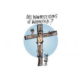 T-shirt Jésus crie le dimanche