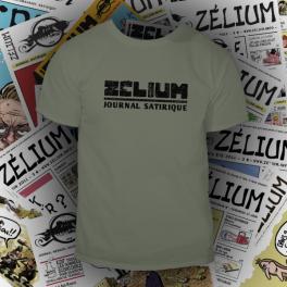 T-shirt kaki Zélium - unisexe