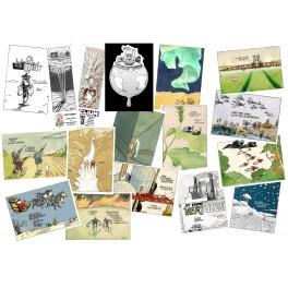 """Lot de cartes postales - Samson """"Tout baigne"""""""