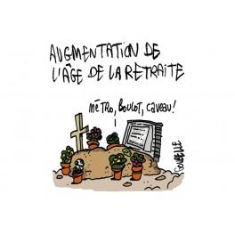T-shirt Retraite : Métro, boulot, caveau