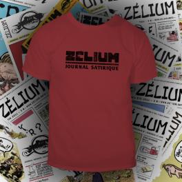 T-shirt rouge tango Zélium - unisexe