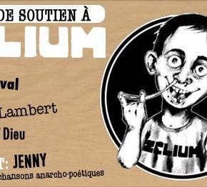 Soirée de soutien à Zélium en particulier et à la presse satirique libre, en général !