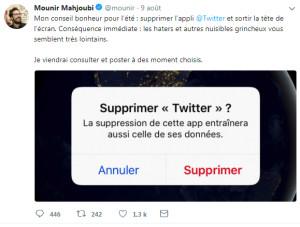 Mounir Mahjoubi adieux